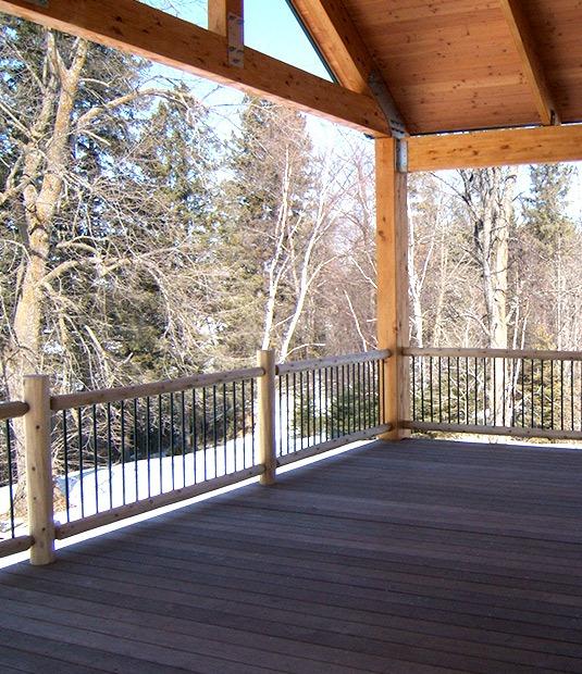 Custom Wood Deck And Roof