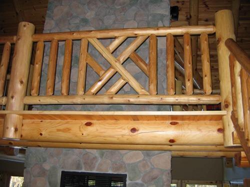Custom Log Railings Rustic Wood Ryan S Rustic Railings