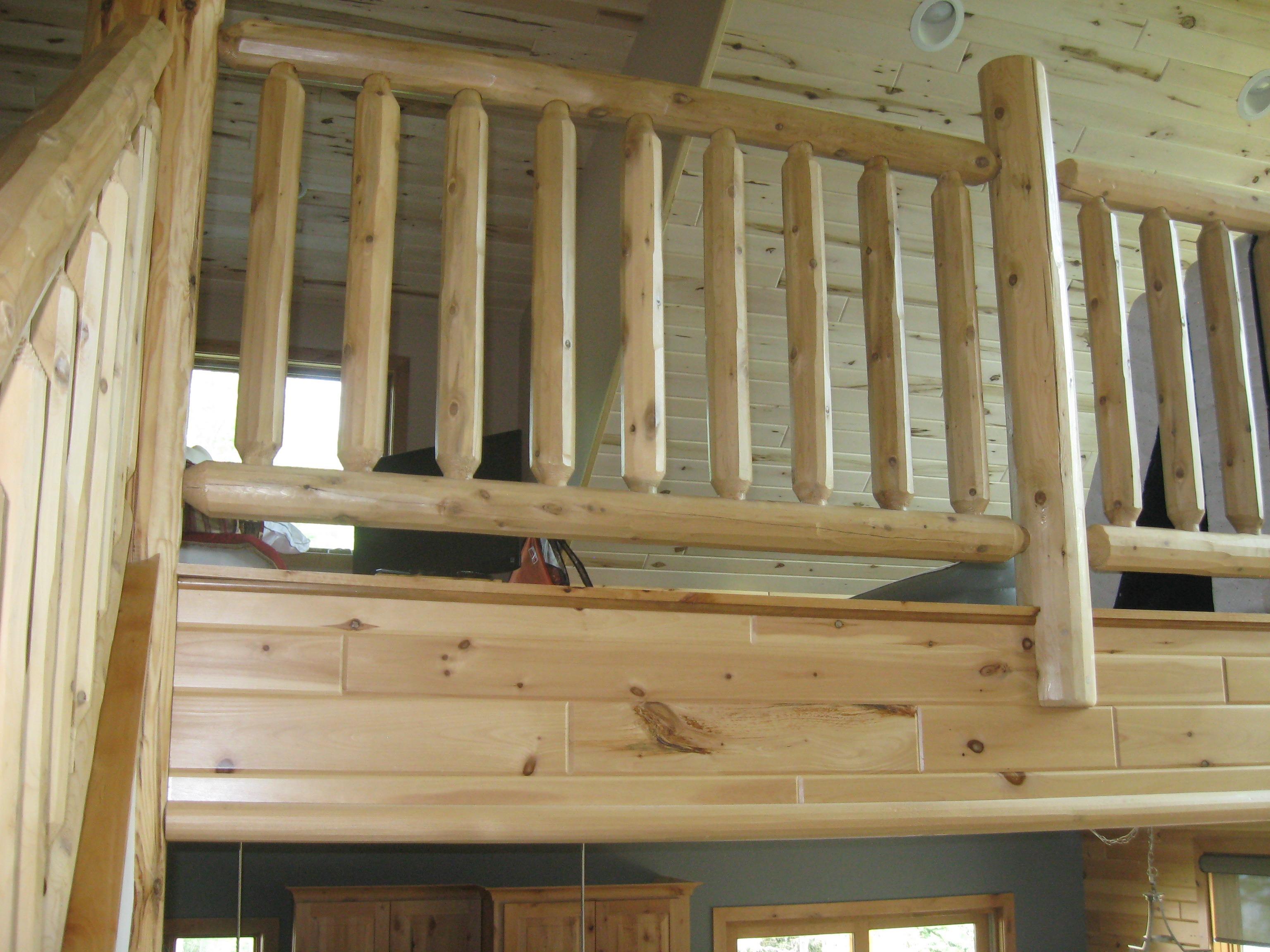 Natural Wooden Railings - Ryan's Rustic Railings