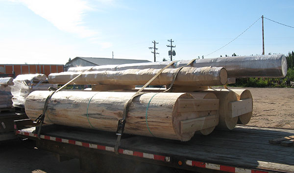 transporting large timber logs