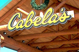 Cabela's commerical log project