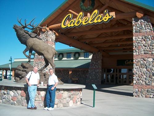Custom wood log awning, store entrance for Cabela's