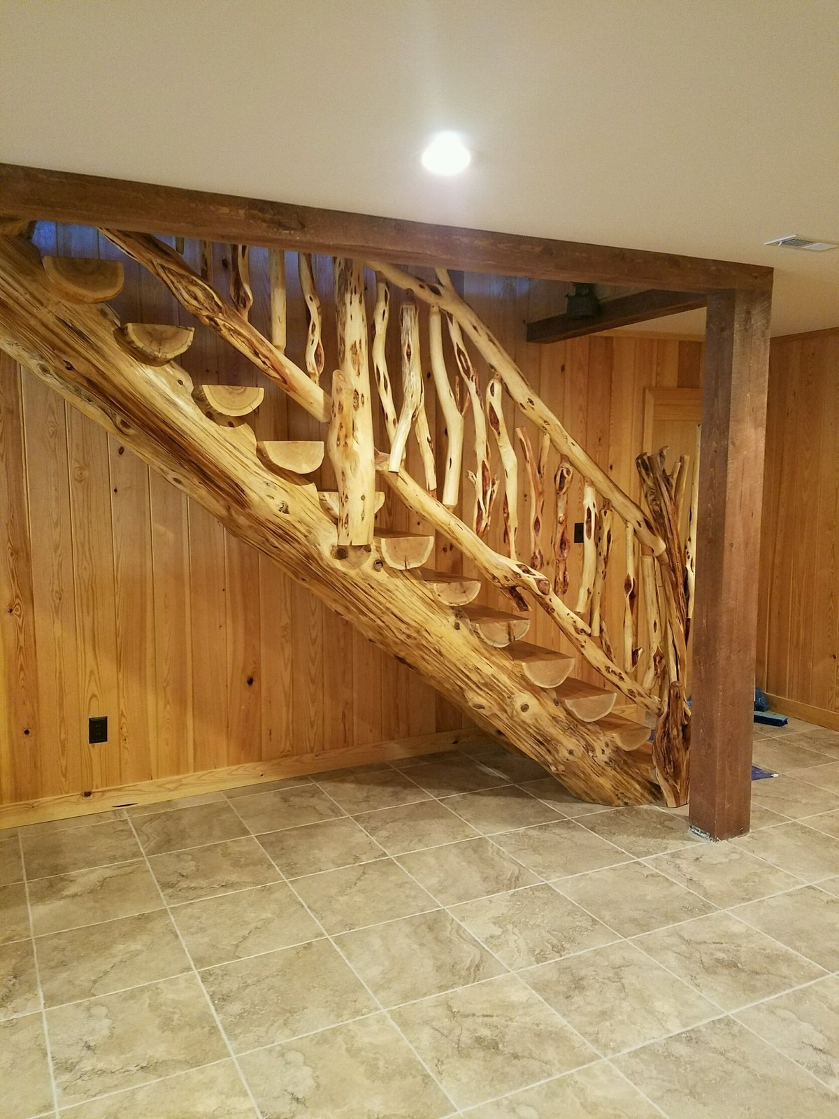 Diamond Willow Stairway - Ryan's Rustic Railings